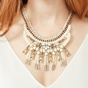 SALE! 🔥 Stella & Dot | Cream Statement Necklace